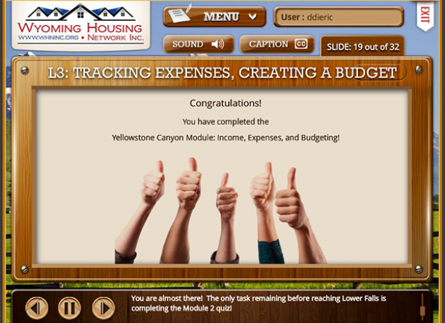 Wyoming Housing Network - Level 3: Tracking Expenses, Creating A Budget Screen