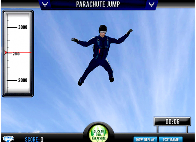 Paratrooper Landing & Maneuverability - Skydiving