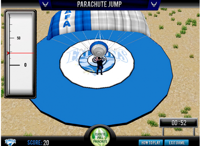 Paratrooper Landing & Maneuverability - Landing on Target