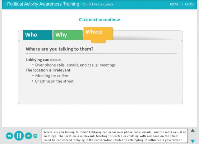 FCA US LLC - Lobbying and Political Activity Awareness Training