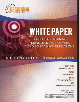 Corporate Training Using 3D Serious Games and 3D White Paper