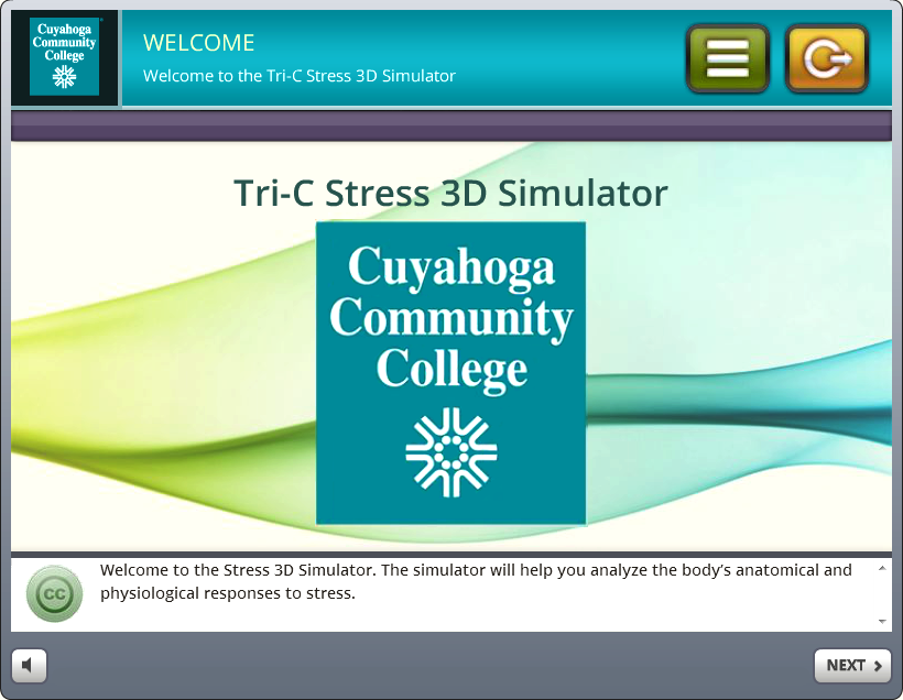 Training Simulation - Tri-C 3D Stress Simulation Training